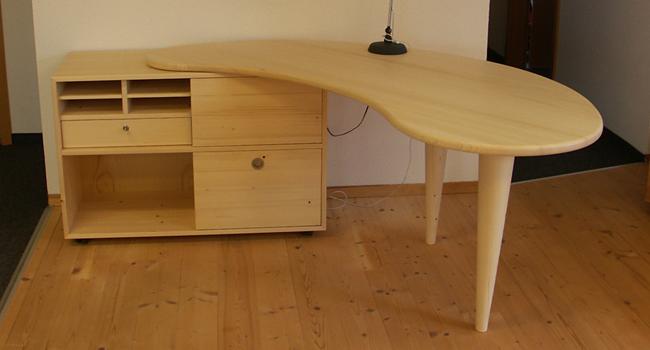 Taxus holzwerkstatt for Schreibtisch rund